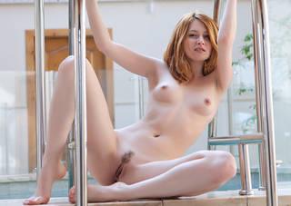 Sultry naked body loving girl.